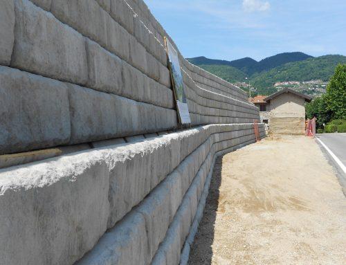 Lavori in corso: nuovo muro di sostegno sul Lago di Lugano